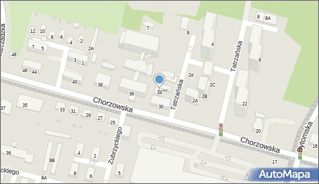 Świętochłowice, Chorzowska, 34, mapa Świętochłowice