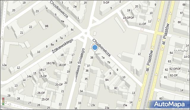Szczecin, Chodkiewicza Jana Karola, hetm., 7, mapa Szczecina