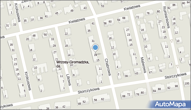 Toruń, Chabrowa, 19, mapa Torunia