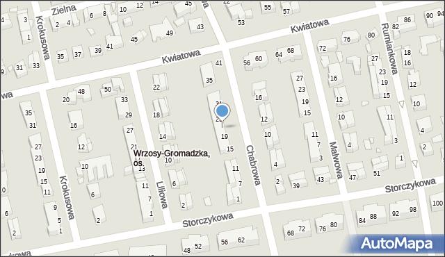 Toruń, Chabrowa, 23, mapa Torunia