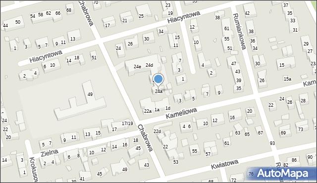Toruń, Chabrowa, 24a, mapa Torunia