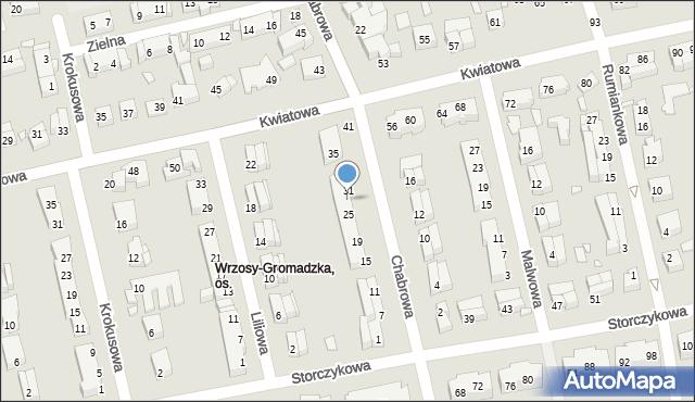 Toruń, Chabrowa, 29, mapa Torunia