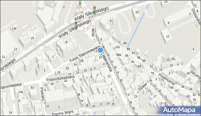 Toruń, Chełmińska, 17, mapa Torunia