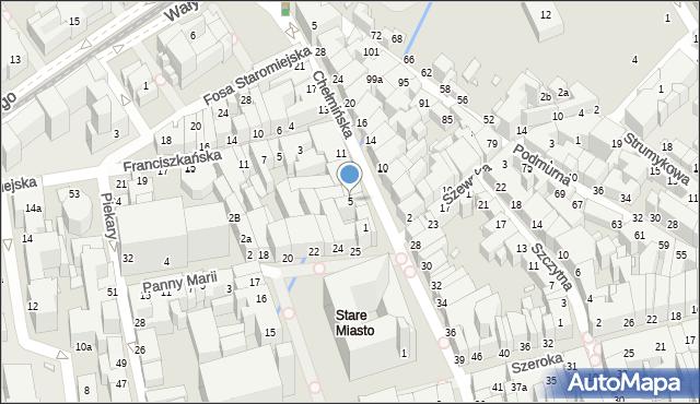 Toruń, Chełmińska, 5, mapa Torunia