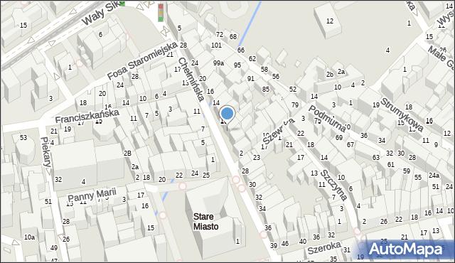 Toruń, Chełmińska, 6, mapa Torunia