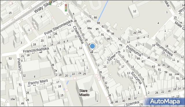 Toruń, Chełmińska, 8, mapa Torunia