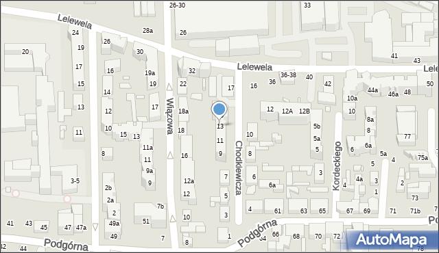 Toruń, Chodkiewicza Jana Karola, hetm., 13, mapa Torunia