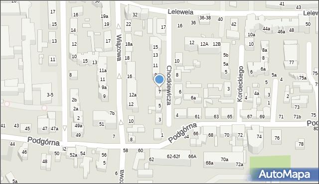 Toruń, Chodkiewicza Jana Karola, hetm., 7, mapa Torunia