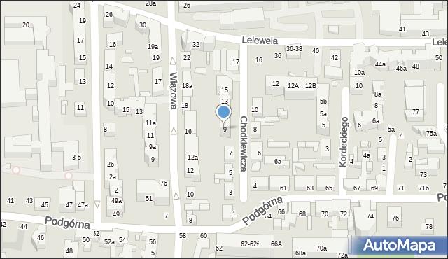 Toruń, Chodkiewicza Jana Karola, hetm., 9, mapa Torunia