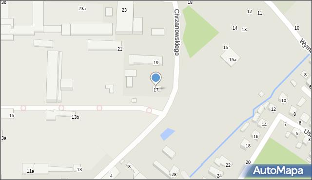 Toruń, Chrzanowskiego Józefa, 17, mapa Torunia