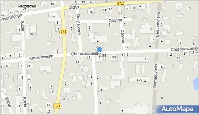 Tykocin, Choroszczańska, 5, mapa Tykocin