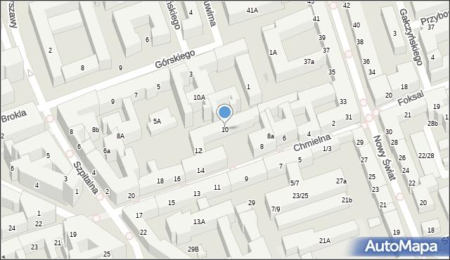 Warszawa, Chmielna, 10, mapa Warszawy