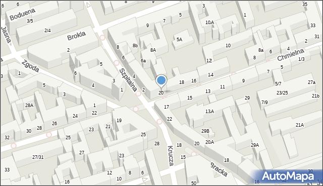 Warszawa, Chmielna, 20, mapa Warszawy