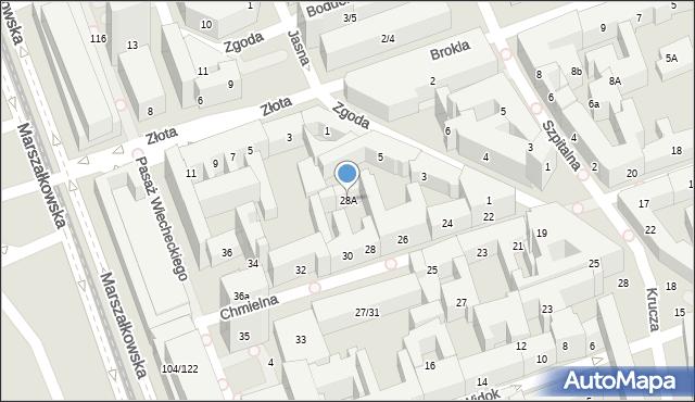 Warszawa, Chmielna, 28A, mapa Warszawy