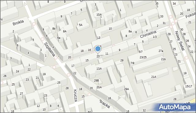 Warszawa, Chmielna, 13, mapa Warszawy