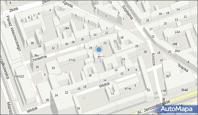 Warszawa, Chmielna, 27, mapa Warszawy