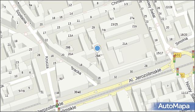 Warszawa, Chmielna, 29A, mapa Warszawy