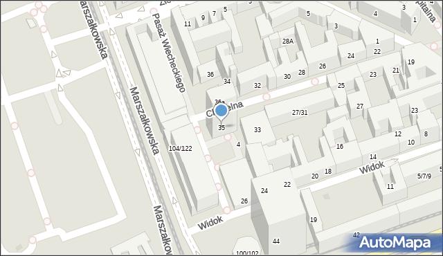 Warszawa, Chmielna, 35, mapa Warszawy