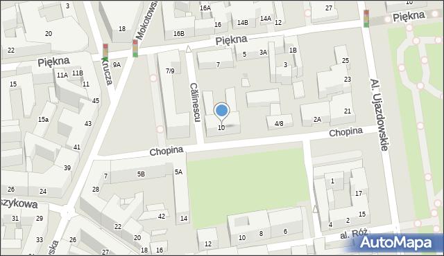 Warszawa, Chopina Fryderyka, 10, mapa Warszawy
