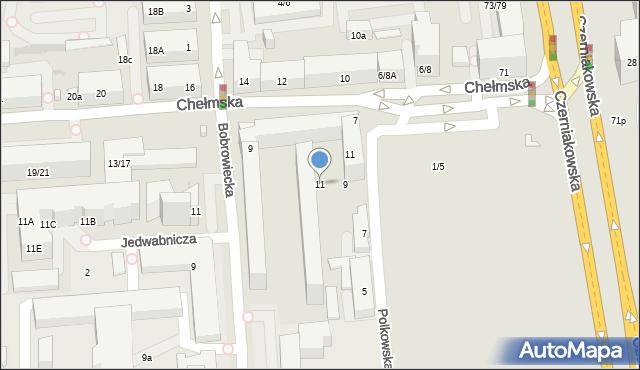 Warszawa, Chełmska, 11, mapa Warszawy
