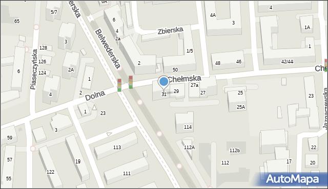 Warszawa, Chełmska, 31, mapa Warszawy
