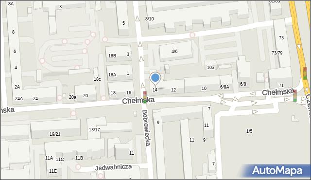 Warszawa, Chełmska, 14, mapa Warszawy