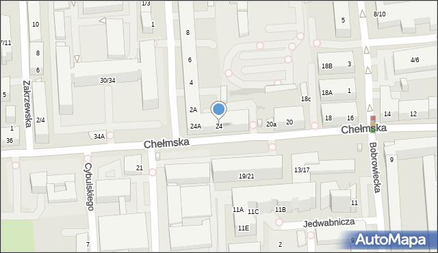 Warszawa, Chełmska, 24, mapa Warszawy