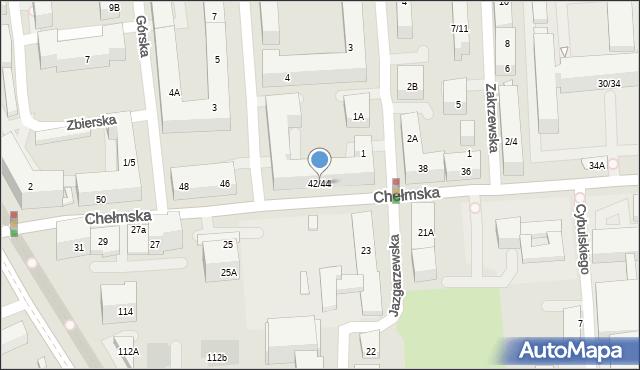 Warszawa, Chełmska, 42/44, mapa Warszawy