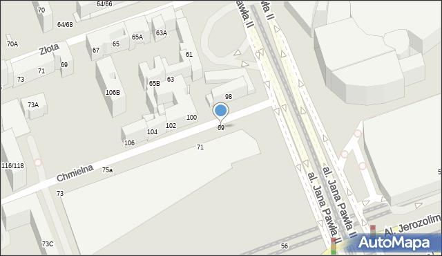 Warszawa, Chmielna, 69, mapa Warszawy