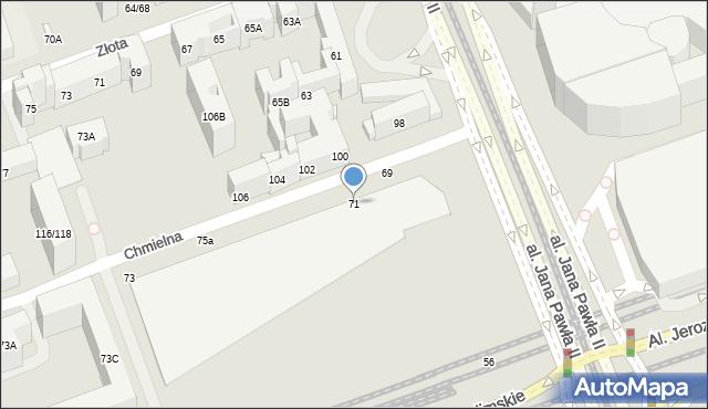 Warszawa, Chmielna, 71, mapa Warszawy