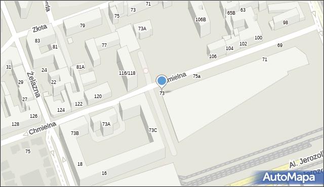 Warszawa, Chmielna, 73, mapa Warszawy