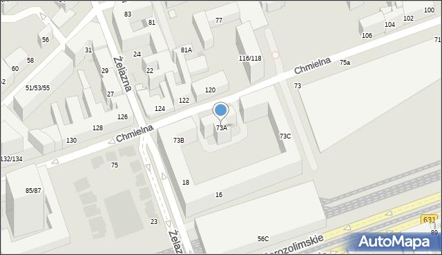 Warszawa, Chmielna, 73A, mapa Warszawy