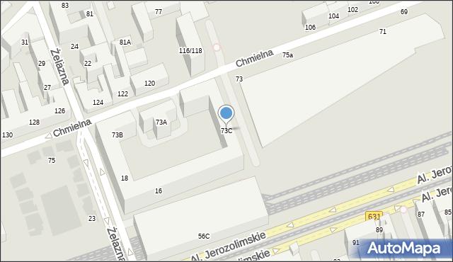 Warszawa, Chmielna, 73C, mapa Warszawy