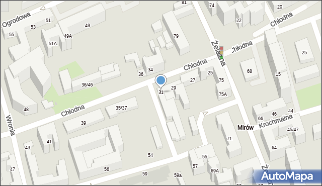 Warszawa, Chłodna, 31, mapa Warszawy
