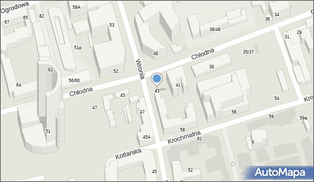 Warszawa, Chłodna, 43, mapa Warszawy