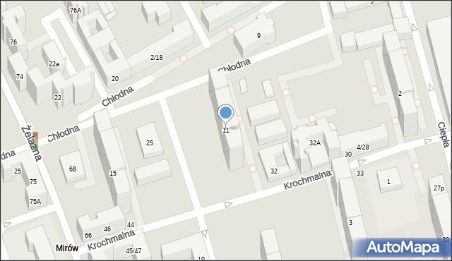 Warszawa, Chłodna, 11, mapa Warszawy