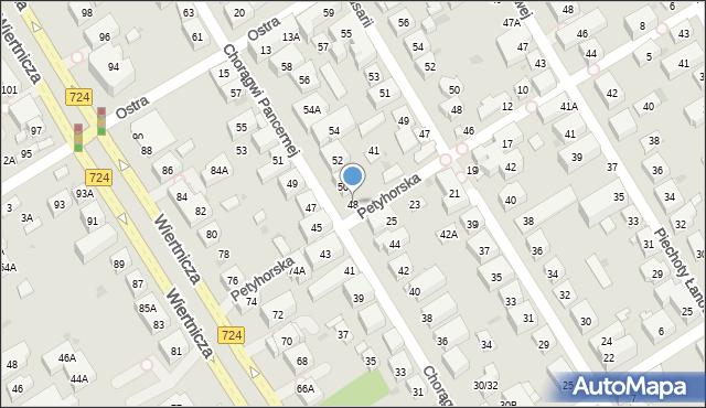 Warszawa, Chorągwi Pancernej, 48, mapa Warszawy