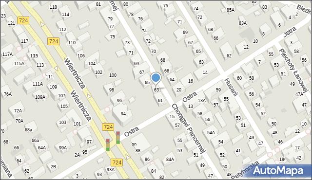 Warszawa, Chorągwi Pancernej, 63, mapa Warszawy