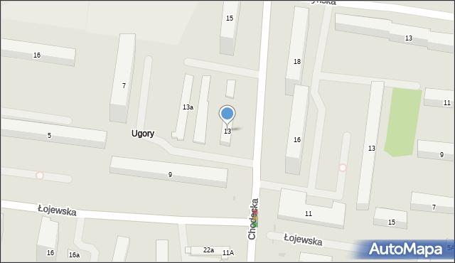 Warszawa, Chodecka, 13, mapa Warszawy