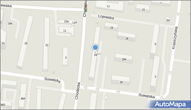 Warszawa, Chodecka, 14, mapa Warszawy