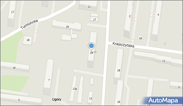 Warszawa, Chodecka, 15, mapa Warszawy