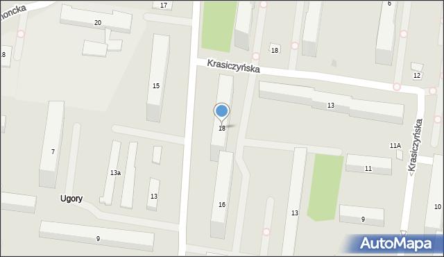 Warszawa, Chodecka, 18, mapa Warszawy
