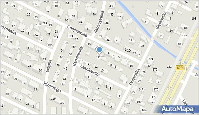 Warszawa, Chojnowska, 11, mapa Warszawy