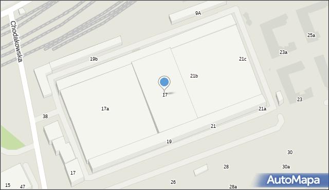 Warszawa, Chodakowska, 17, mapa Warszawy