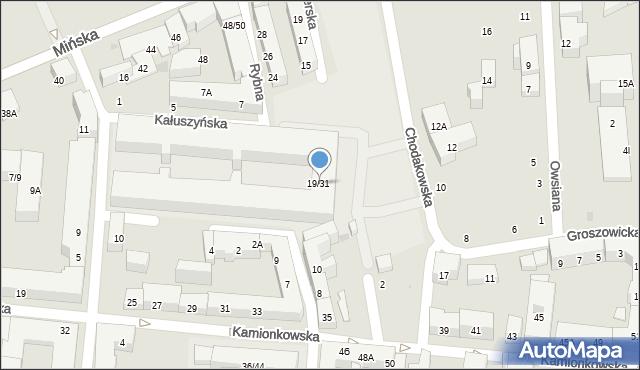 Warszawa, Chodakowska, 19/31, mapa Warszawy