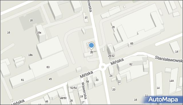 Warszawa, Chodakowska, 35, mapa Warszawy