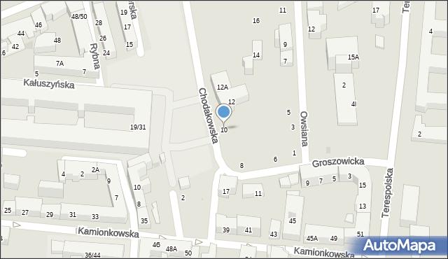 Warszawa, Chodakowska, 10, mapa Warszawy
