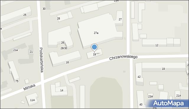 Warszawa, Chrzanowskiego Wojciecha, 14, mapa Warszawy