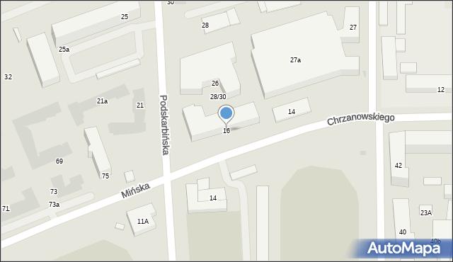 Warszawa, Chrzanowskiego Wojciecha, 16, mapa Warszawy