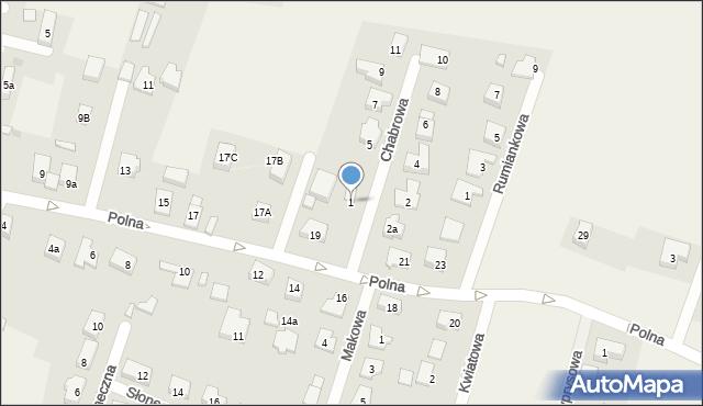 Wilkszyn, Chabrowa, 1, mapa Wilkszyn